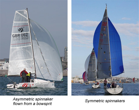 Types of spinnaker